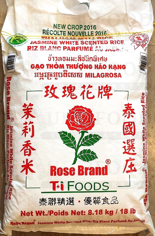 Rose Brand Jasmine White Rice6.8KG