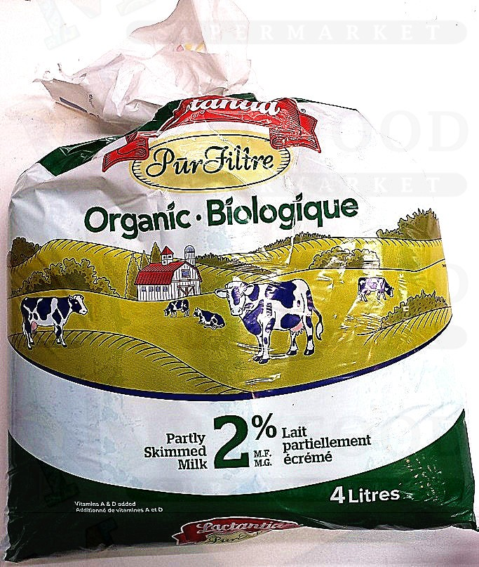 LACTANTIA ORGANIC BIOLOIQUE 2% PARTLY SKIMMED MILK