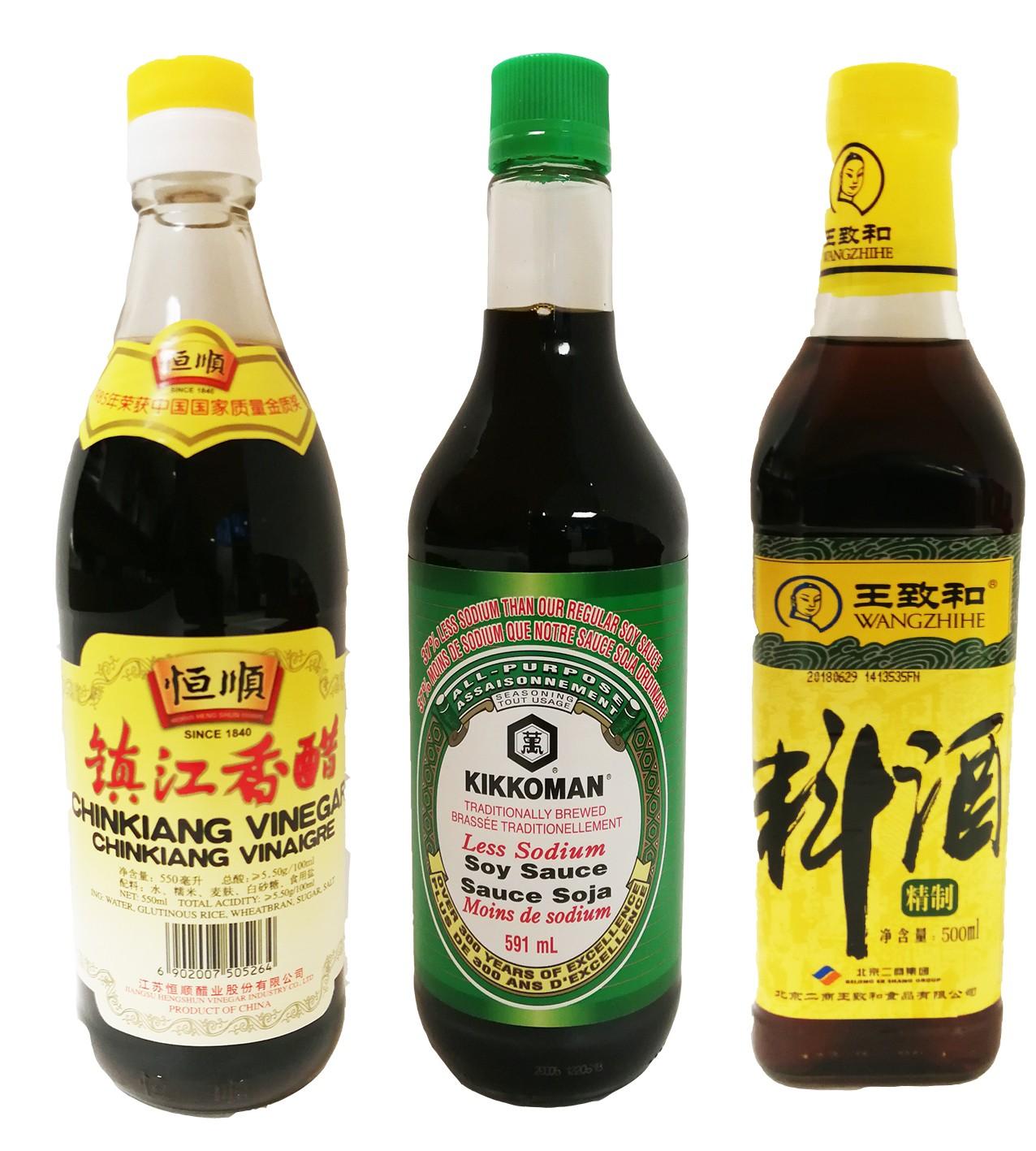 Cooking Wine;Soy Sauce;Vinegar