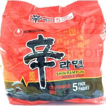 SHIN RAMYUN NOODLE SOUP 辛 120gx5pkgs