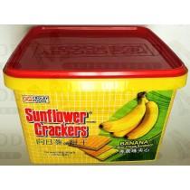 SUNFLOWER CRACKERS BANANA FLAVOR CREAM SANDWICH 向日葵牌饼干香蕉味夹心 800g