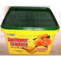 SUNFLOWER CRACKERS ORANGE FLAVOR CREAM SANDWICH 向日葵牌饼干橙味夹心 800g