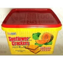 SUNFLOWER CRACKERS MELON FLAVOR CREAM SANDWICH 向日葵牌饼干香瓜味夹心 800g