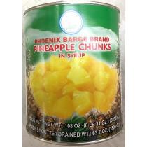 PHOENIX BARGE BRAND PINEAPPLE CHUNKS 菠萝粒罐头6LBX6