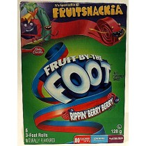 FRUIT BY THE FOOT RIPPIN'BERRY BERRY  128g