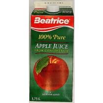 BEATRICE 100% PURE APPLE JUICE