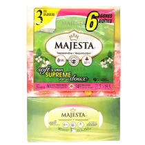 MAJESTA TISSUES 纸巾 90TISSUESX6BOXES 540 TOTAL SHEETS