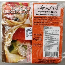 SUN ON FOOD CO. WONTON WRAPPERS  454g
